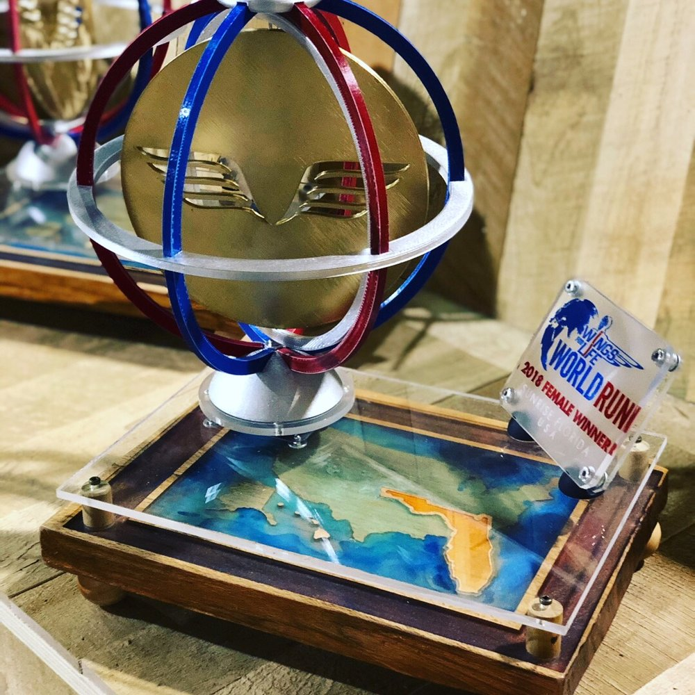 2018  Wings for Life World Run  trophies
