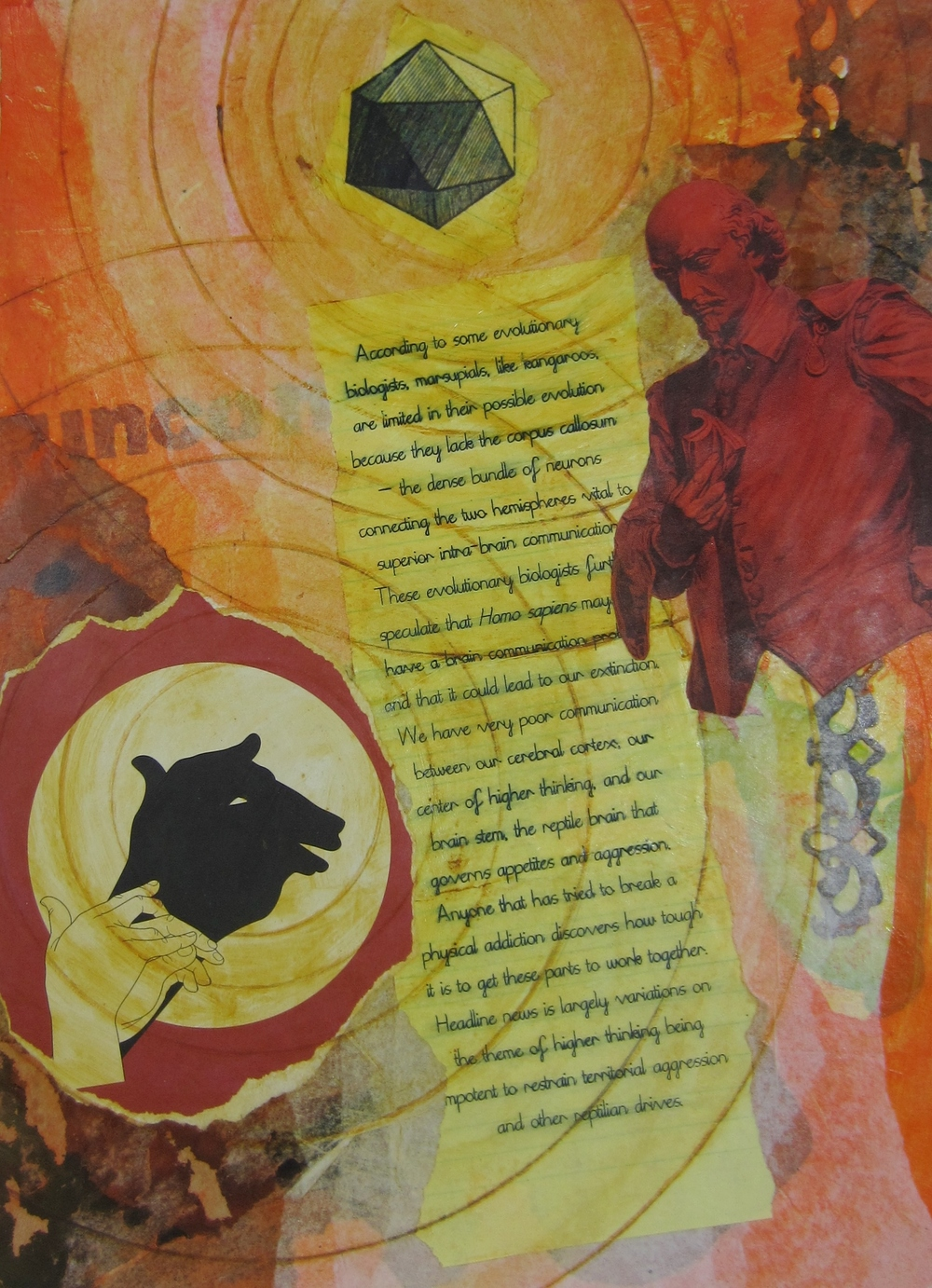"from 2012 'Mathematics of Love"" series     collage, acrylic, mixed media"