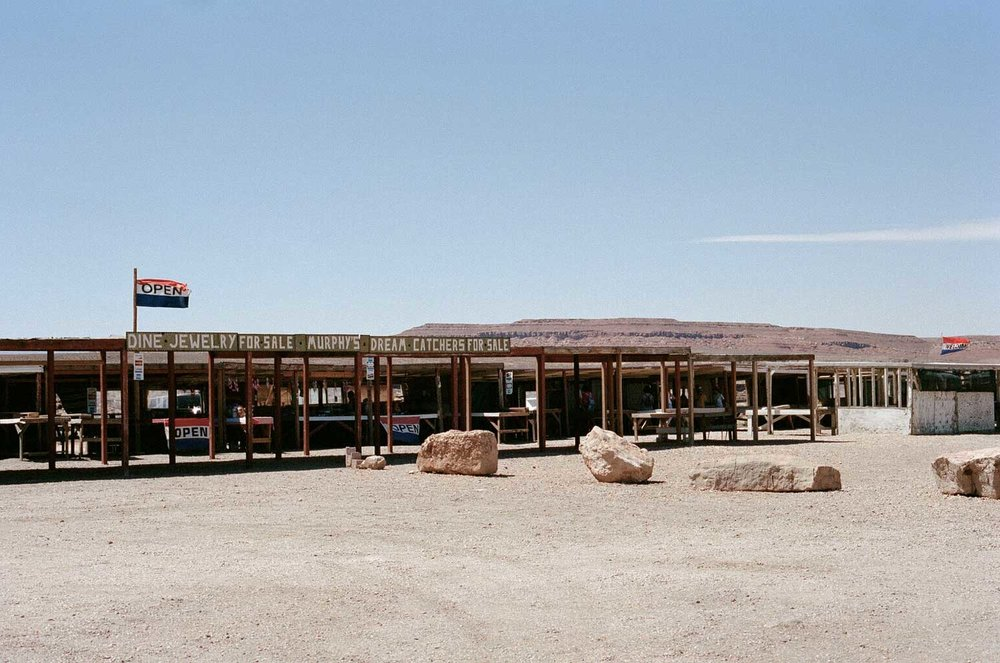 one of the many Navajo craft & jewelry stores found in Cameron, AZ