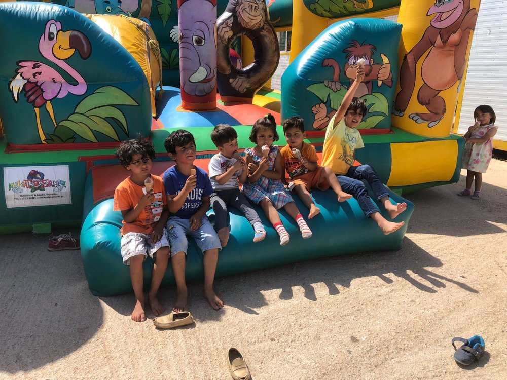 2018 June ice cream truck for Allied Aid Lavrio camp fair.jpg