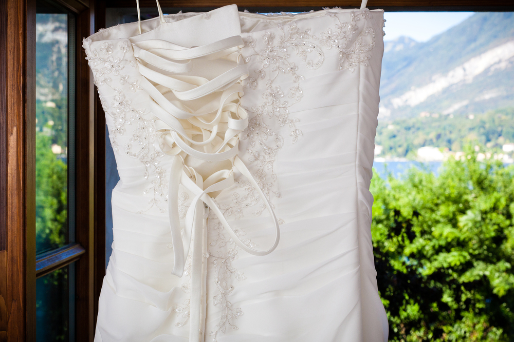 Bellagio Wedding, Lake Como, Italy - Wedding Dress