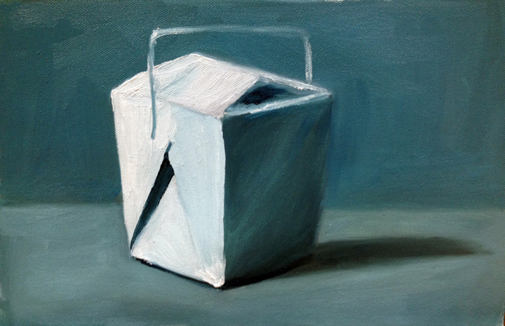 "Still life, oil on canvas, 9"" x 12"""