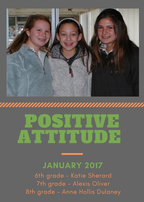 We are proud of these POSITIVE Middle School Students!