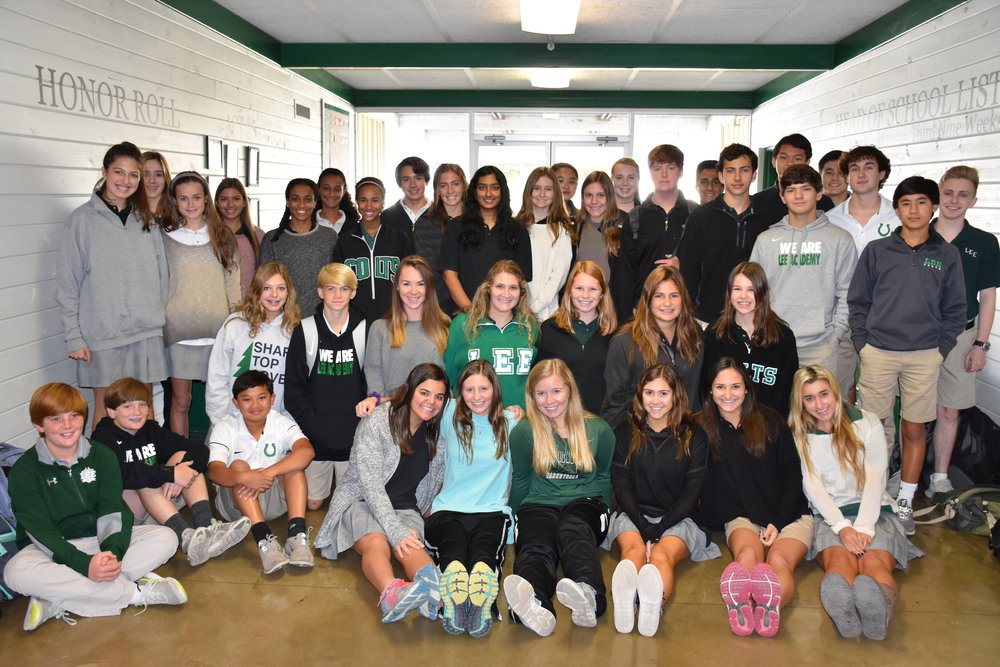 Head of School List: 7th Grade - Luke Agostinelli, Rachael Branch, Bryan Ray, Sam Stonestreet, Jordan Wong, Carley Wood; 8th Grade - Sara Lutts, Alexix Oliver, Aubrey Williams; 9th Grade - Tate Allen, Gaines Barksdale, Elizabeth Basha, Michael Basha, Sarah Basha, Sandra Chow, Anne Hollis Dulaney, Merri Evelyn Evans, Emily Moser, Jackson Spinks; 10th Grade - Hunt Barksdale, Sykes Connell, Lyndsey Kate Cook, Joseph Curcio, Mary Louisa Czamanske, Mack Davis, Brooks Fyfe, Allie Middleton, Ashlynn Smith, Landon Wong; 11th Grade - Rutledge Agostinelli, Ansley Fava, Hayes Flowers, Maddi Riddick; 12th Grade - Leslie Ann Bell, Laura Lee Chicorelli, Austin Haire, Peyton Lott, Mallory Matthews, Mary Anna Noe, Hetal Shingrani