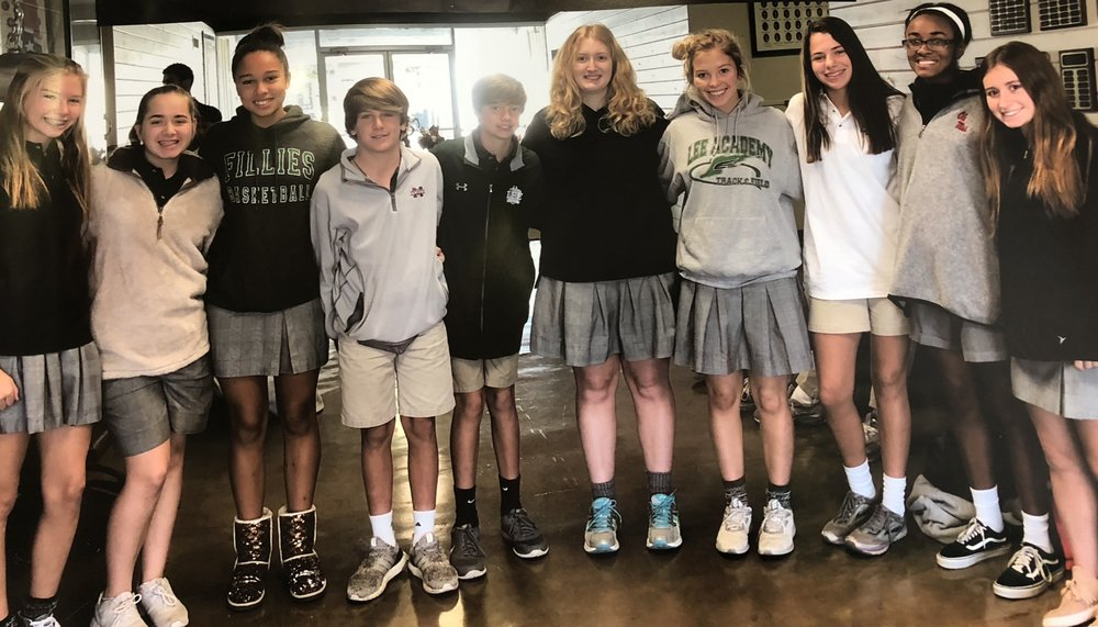 Honor Roll:  7th Grade - Justice Duraj, Watkins Fyfe; 8th Grade - Jett Harrell, Nicole Montgomery, Haley Ramirez; 9th Grade - Maddie Hawkins, Nickos Nolan; 10th Grade - Anna Byrd, Talmadge Lewis; 11th Grade - Hayes Flowers (Head of School List);  12th Grade - Sara Lawrence, Morgan Webb, Michaela Webb