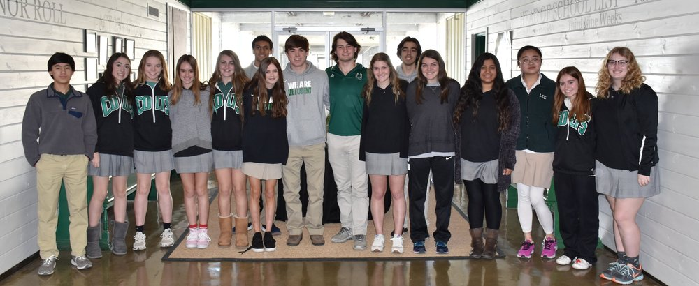 Honor Roll: 7th Grade: Faith Carter Bailey, Rachael Branch, Meri Hollis Lawrence, and Anna Kate Rhoden 9th Grade: Gaines Barksdale, Sandra Chow, Brielle Johnson, and Nikos Nolan 11th Grade: Crawford Allen, Lewis Czamanske, Hayes Flowers, Shelton Johnson, and Kyriam Molina 12th Grade: Jacob Branch and Laura Lee Chicorelli