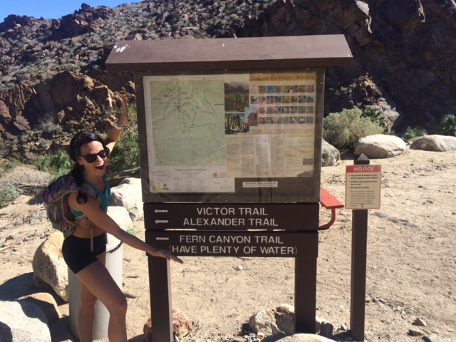 Hot, sweaty and looking for our way back to the Trading Post
