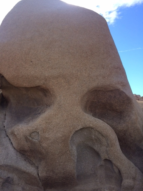 Skull Rock, Get it?  The water the hits the granite, is what creates the crevasses