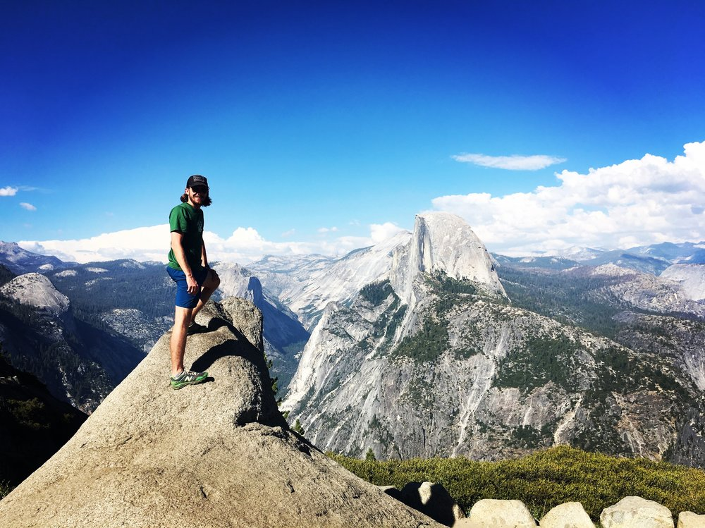 Mike on the Left, Half Dome on the Right