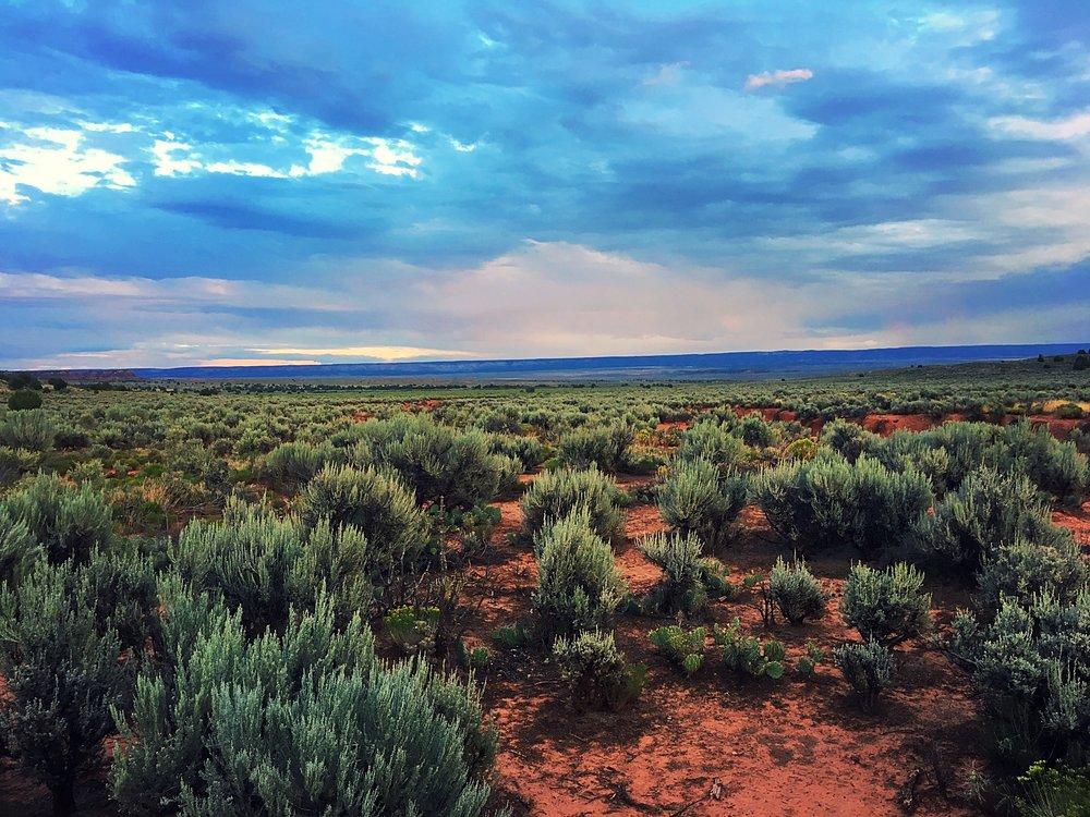 Sunset in Utah, Looking at Arizona