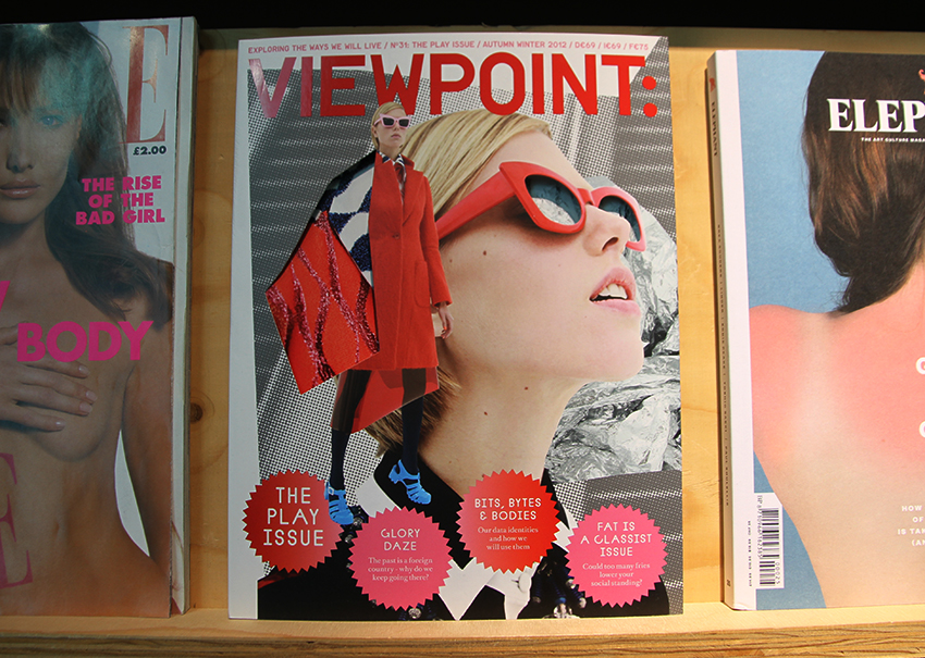 Viewpoint magazine art directed and designed by Bianca Wendt, displayed in the A+ exhibition at Central Saint Martins in 2016