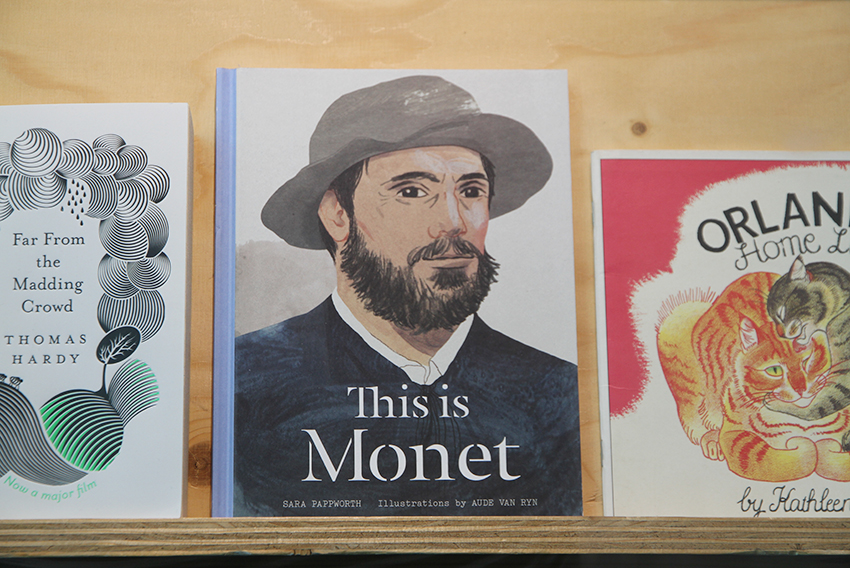 """This is Monet"" (2016) illustrated by Aude Van Ryn, displayed in the A+ exhibition at Central Saint Martins in 2016"