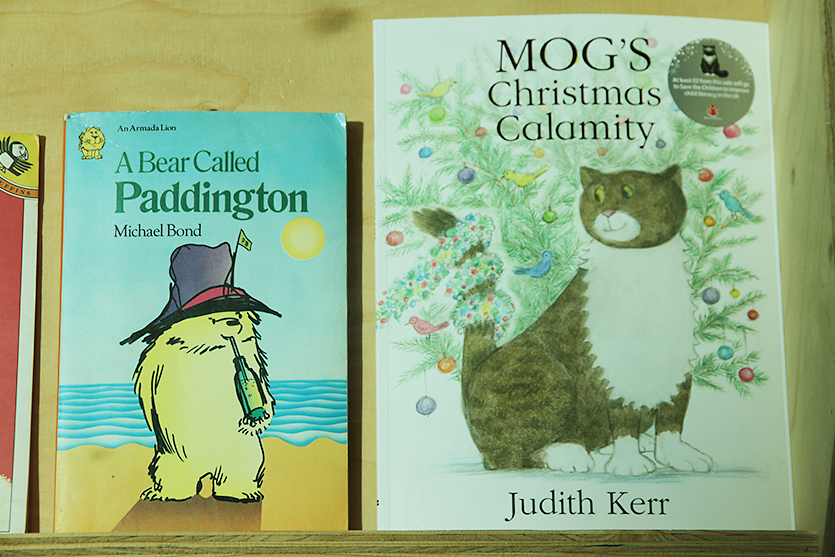 Mog's Christmas Calamity by Judith Kerr (2015) displayed in the A+ exhibition at Central Saint Martins in 2016
