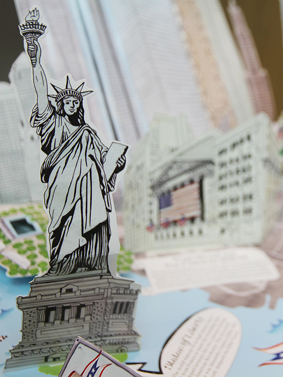 """New York"" pop-up book by Jennie Maizels (2011) on display in the A+ exhibition at Central Saint Martins in 2016"