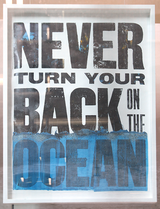 Sophie Thomas 'Never turn your back on the ocean' (2014), displayed in the A+ exhibition at Central Saint Martins in 2016