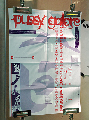 Pussy Galore poster, WD+RU for Fuse magazine, 1994. On display in the A+ exhibition at Central Saint Martins in 2016