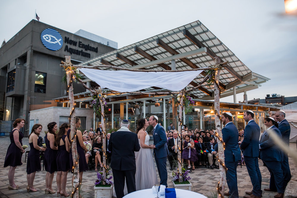 New England Aquarium wedding photography bride and groom out door boston.jpg