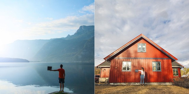 Instagram của họ tràn ngập những tấm ảnh đẹp ngỡ ngàng, ghi dấu mốc những nơi họ đặt chân tới.