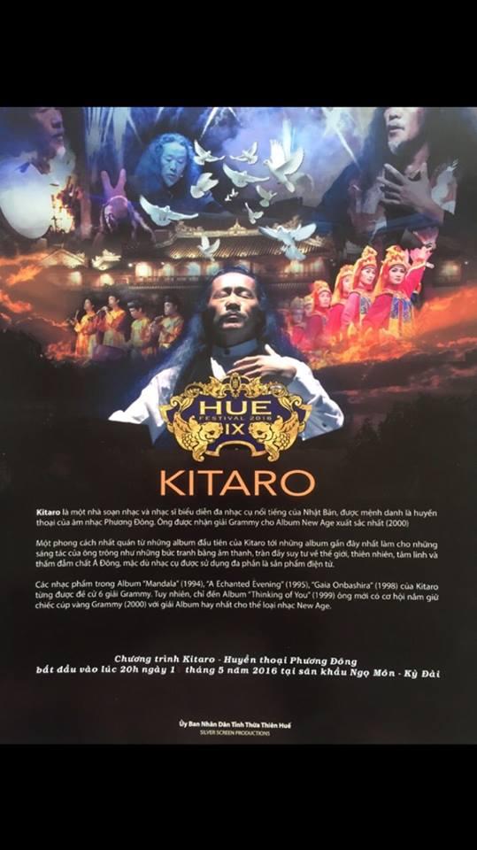 """Nhà soạn nhạc và nghệ sĩ gạo cội người Nhật Kitaro sẽ mang đến chương trình """"Huyền thoại Phương Đông"""" Ngọ Môn - Ký Đài (Ảnh: Ibizone)"""