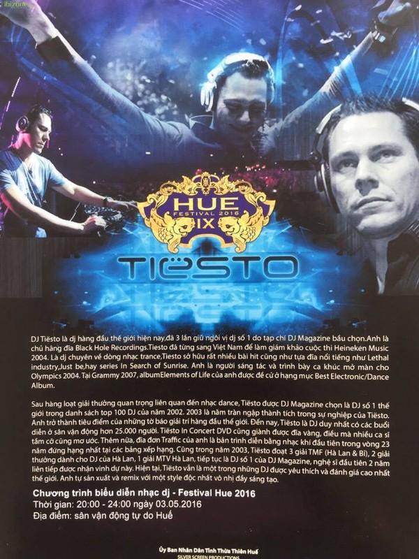 DJ kì cựu thế giới Tiësto sẽ chơi nhạc tại sân vận động tự do Huế (Ảnh: Ibizone)