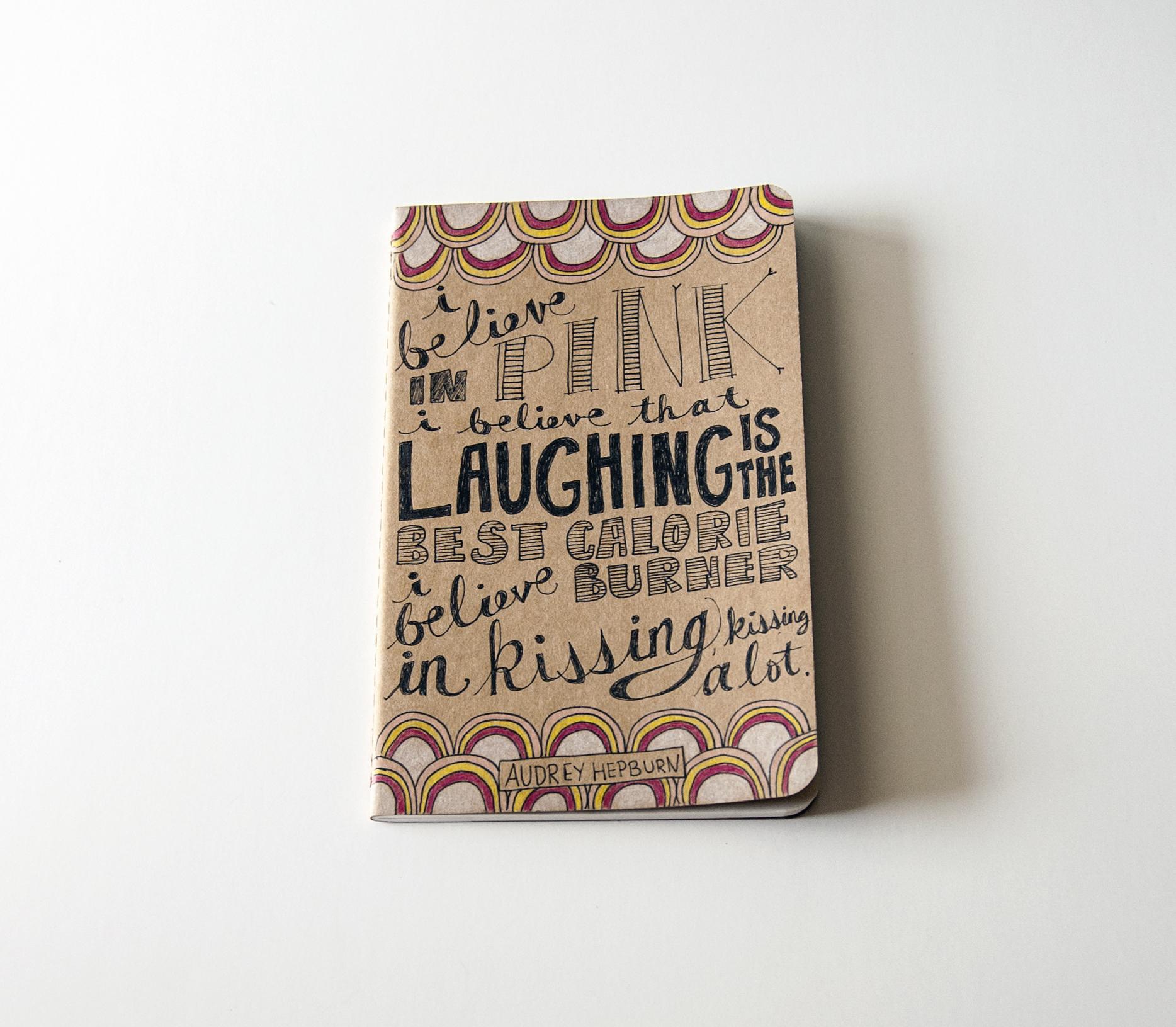 Katie Vaz Design | Audrey Hepburn Quote Journal
