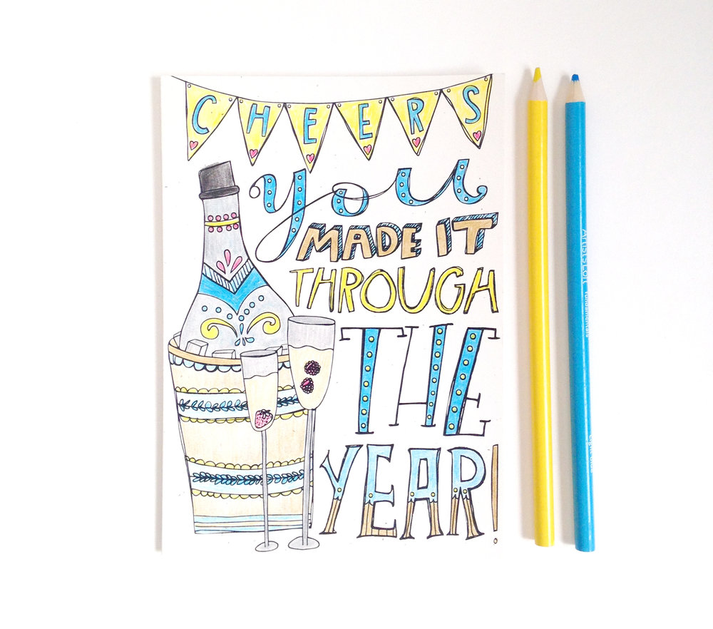Printable Greeting Card | Katie Vaz Design
