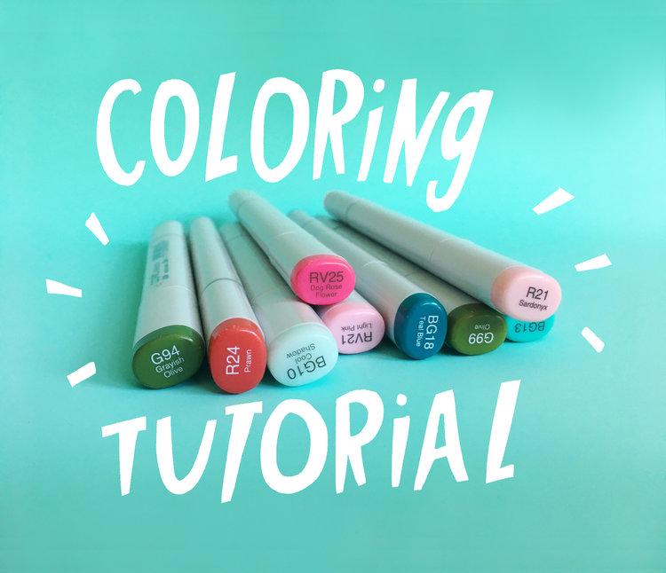 Coloring Tutorials with Posh Coloring Studio — Katie Vaz