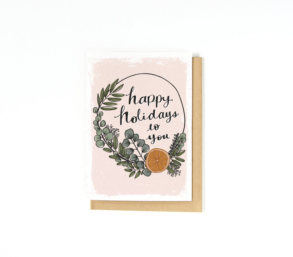 Katie Vaz | Eucalyptus Wreath | Hygge Card