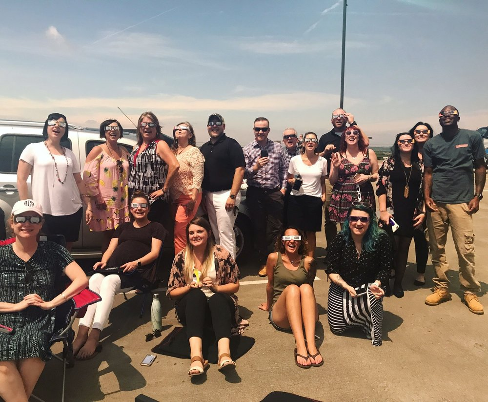 The whole NOI group during the 2017 Total Solar Eclipse. We hope you had a fun and safe Eclipse!