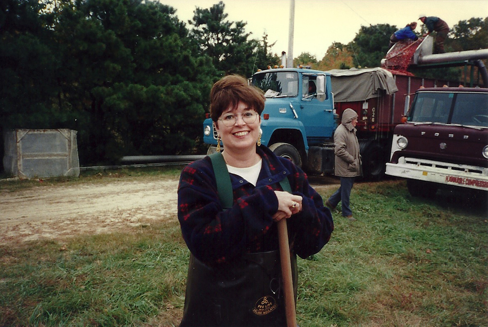 Fall, 2000 | Clare's View | Clare is ready to help push the berries.