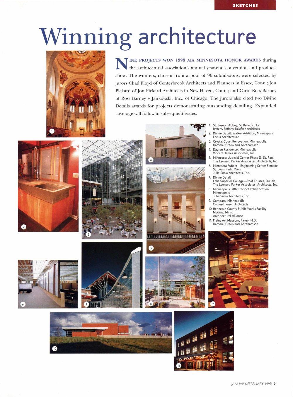 AIA Honor Award, Divine Detail, Walker Residence, 1998
