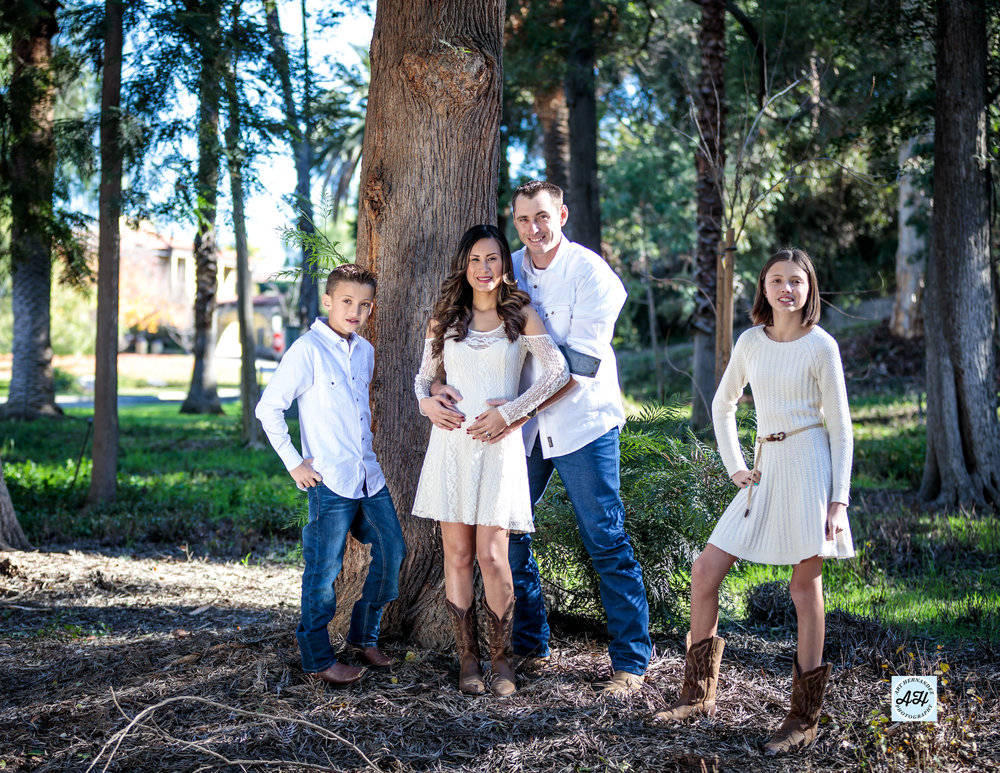 location: Redlands, CA  This is a beautiful photo session with the Anthony Family on the bright sunny day. The time of the day is noontime but we were able to get a good light.