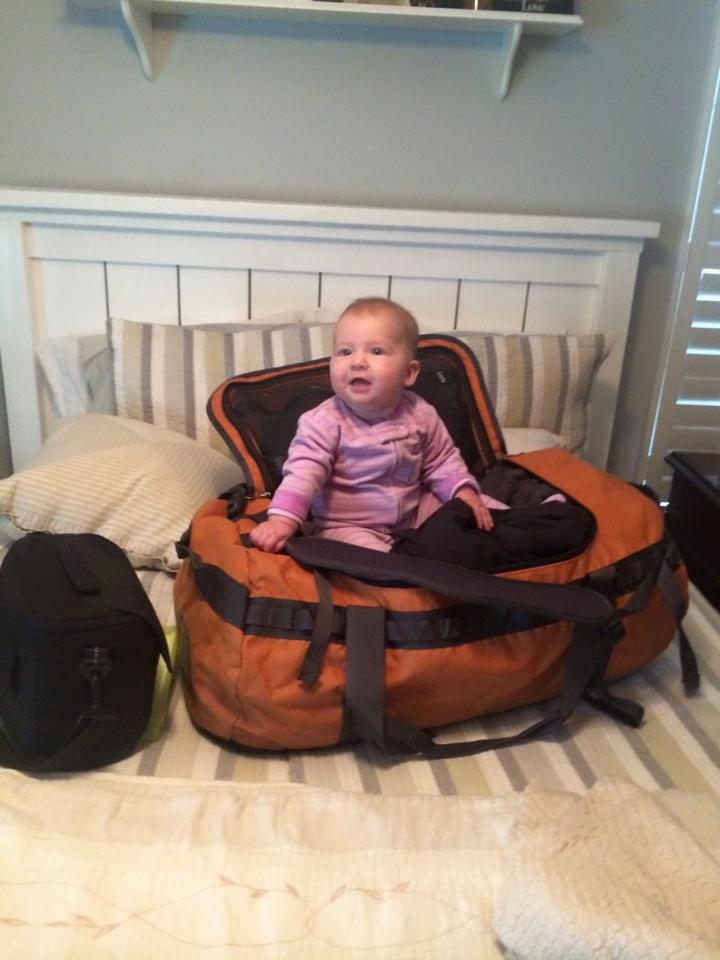 She was a ham the whole time we packed