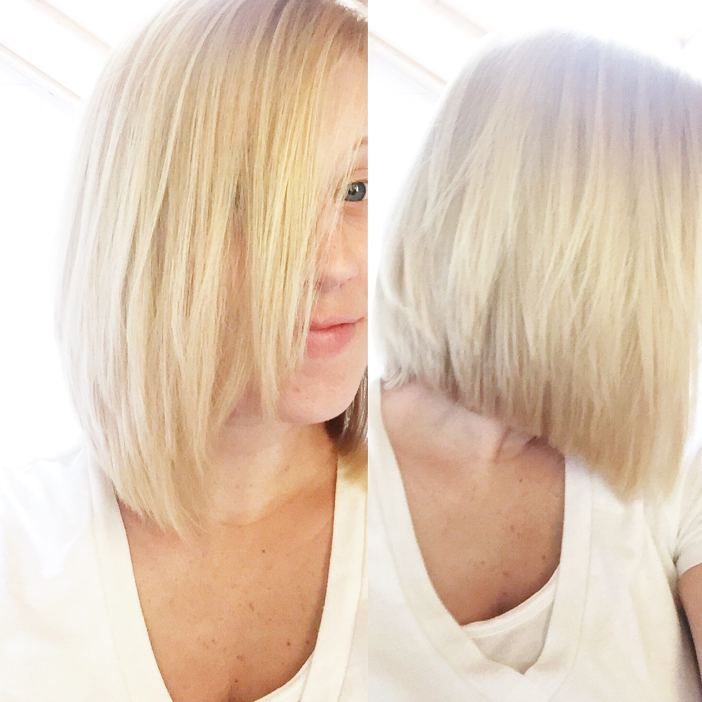 I chopped all my hair off: