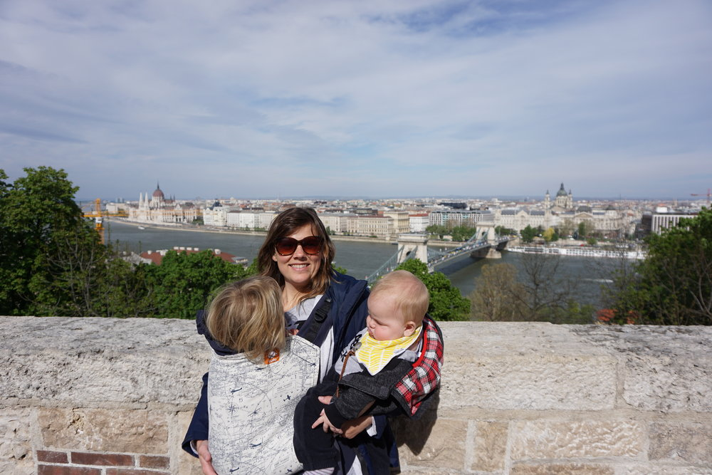 Our baby nomads and me (Tavia) in Budapest (April 2017)