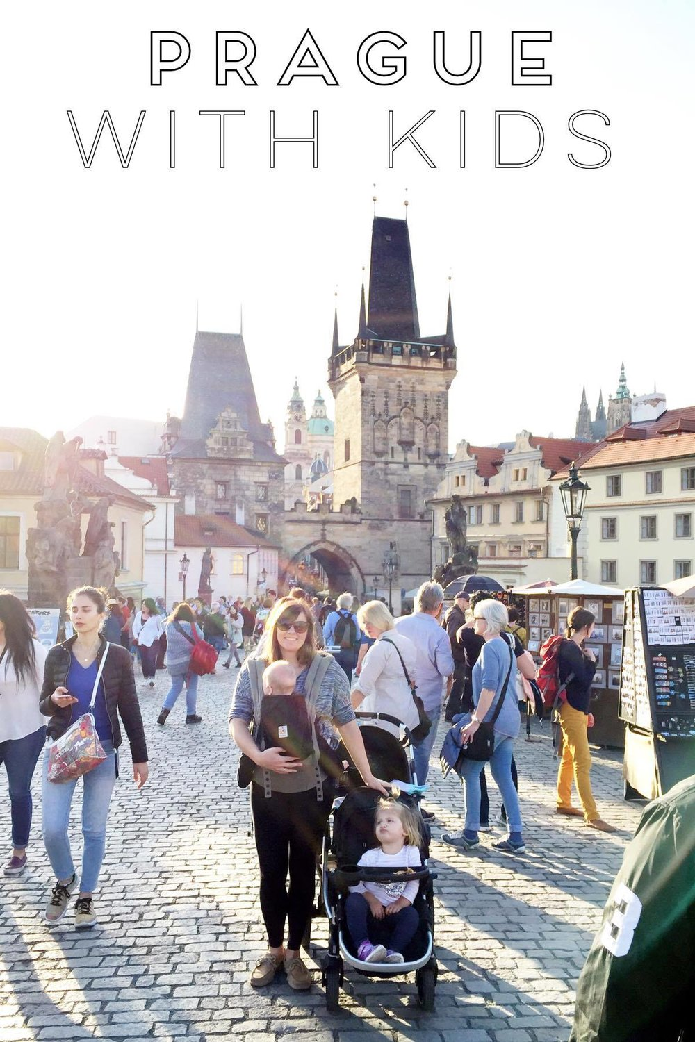 Charles Bridge with my babies