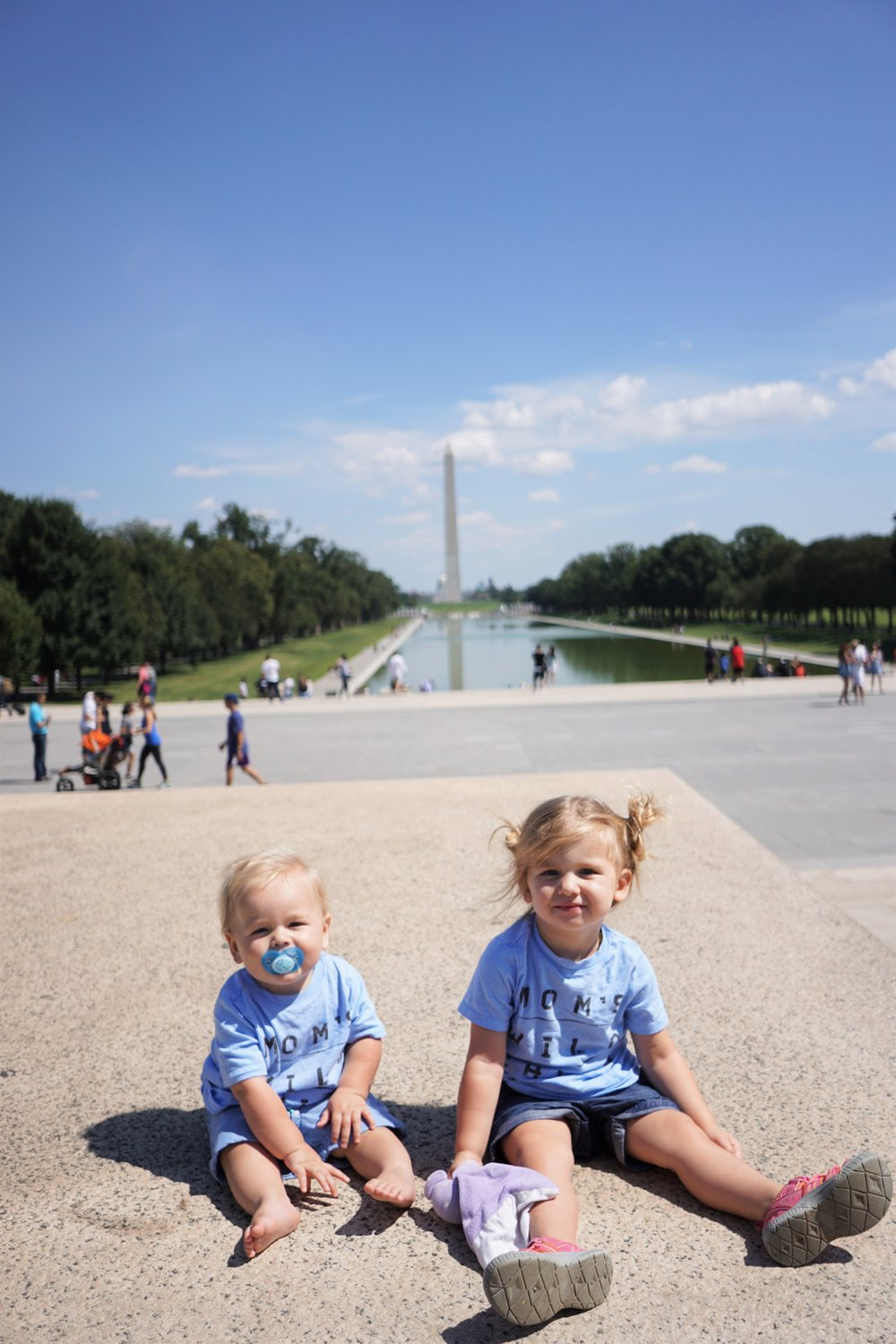 Our Little Nomads on the national mall in Washington DC in september 2017