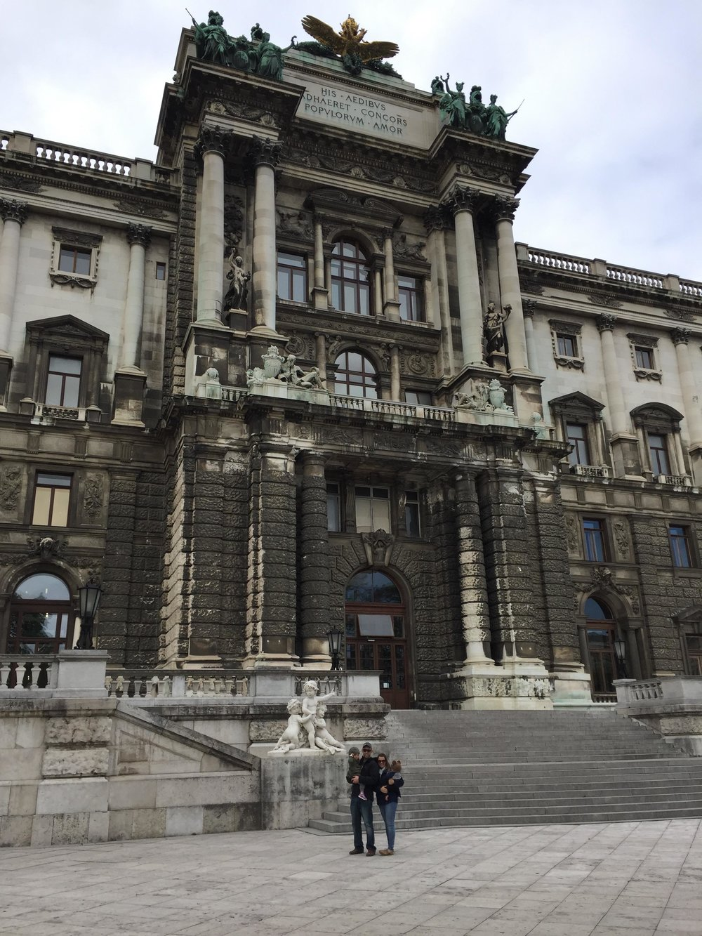 Walking the grounds of hofburg palace