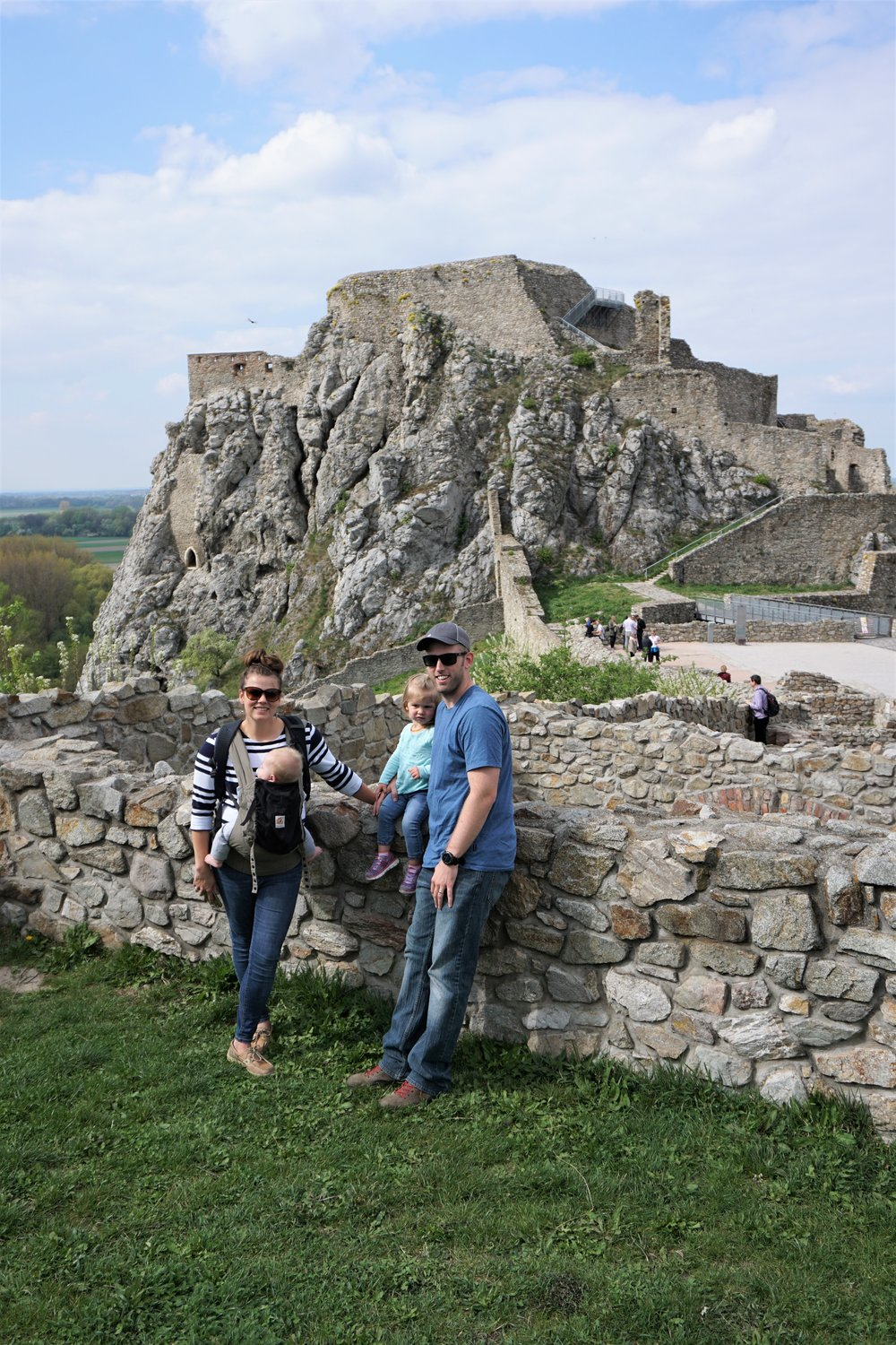 The nomads standing at devin castle