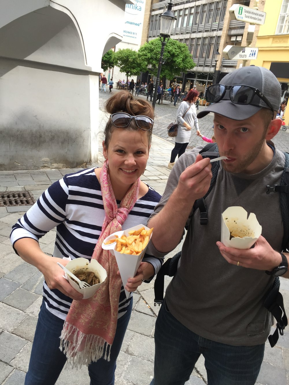 eating delicious street food