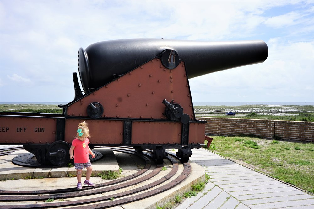Checking out the Cannons at Fort Pickens