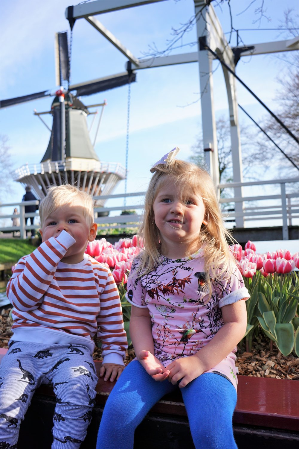 The little Nomads in front of the Windmill