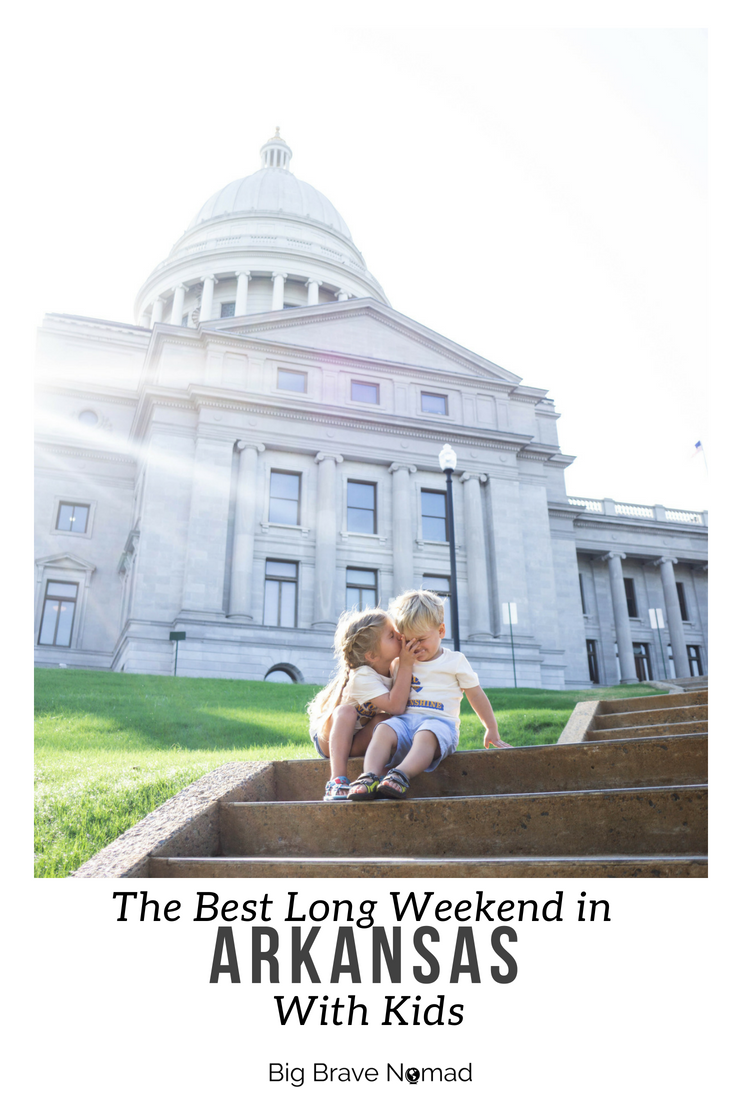 How to spend the best weekend in Arkansas with kids.  Everything from food to splashpads to where to stay.  Explore everything little rock, hot springs and crater of diamonds has to offer. arkansas needs to be your next family destination; perfect for toddlers and babies!  #bigbravenomad #familytravel #arkansas
