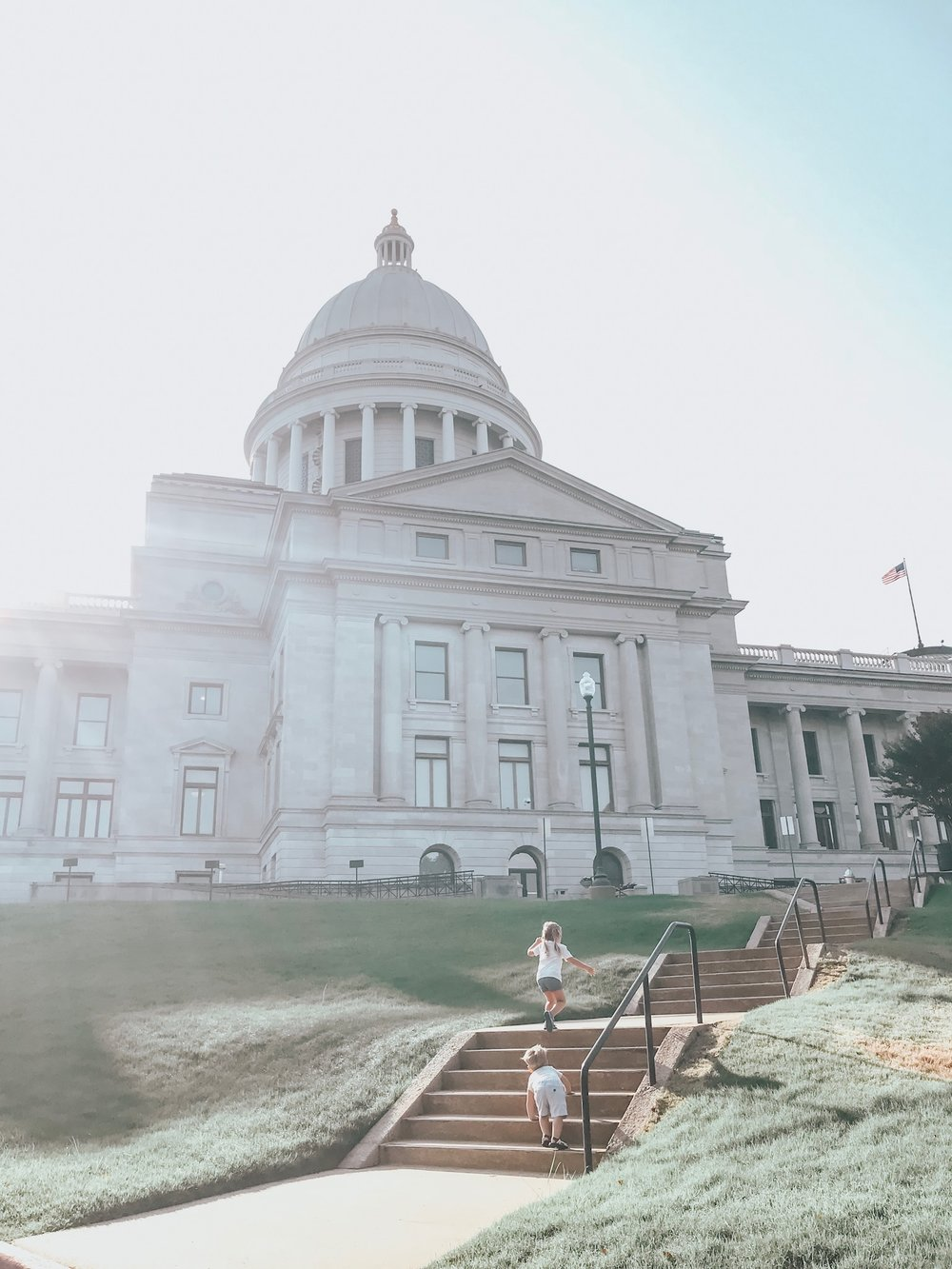 The sun was gorgous over the Arkansas State Capitol
