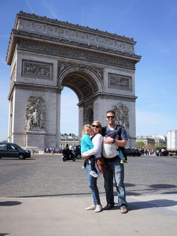 Moments before Latham got super sick in Paris, France