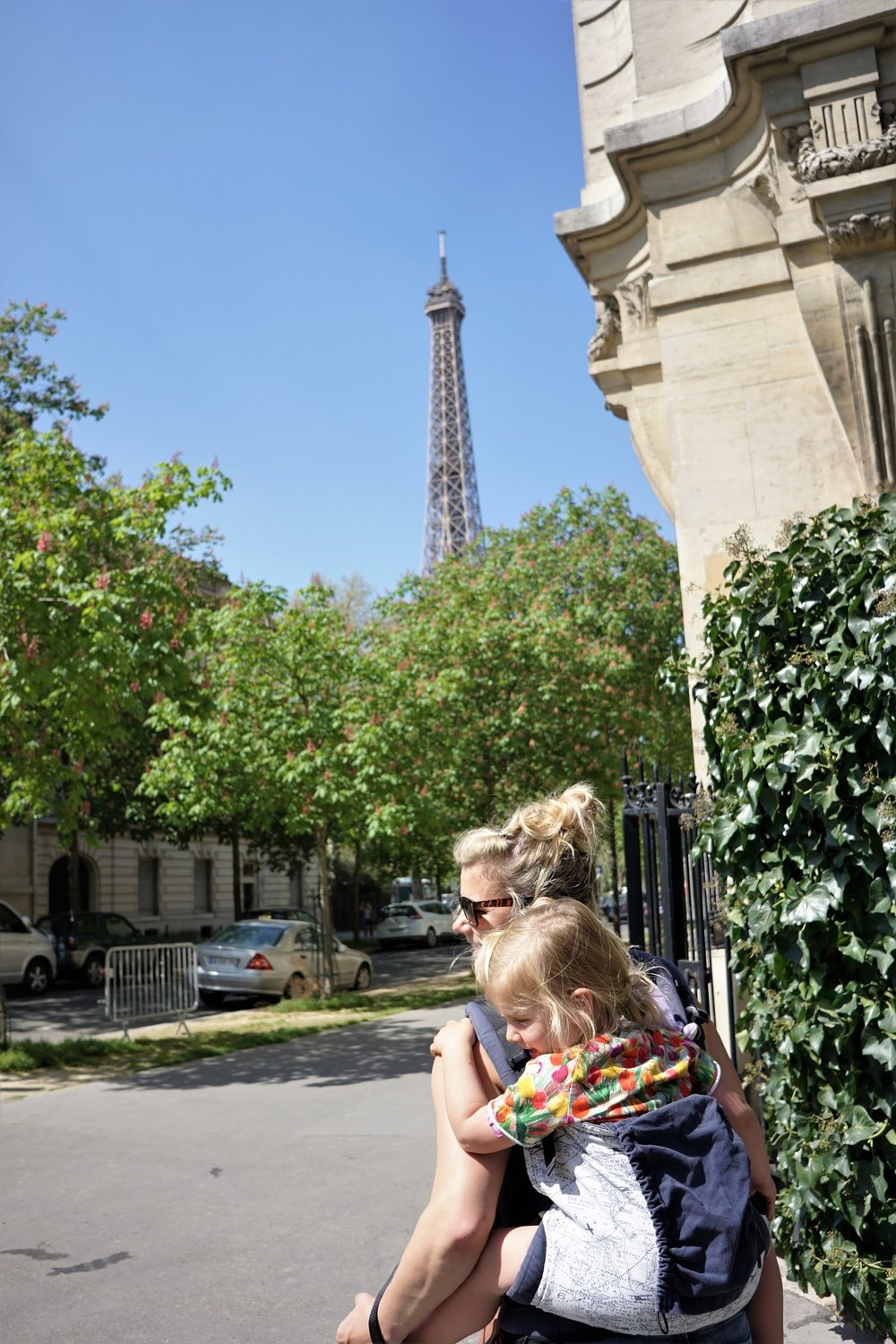 On our way to find coffee we FOUND some awesome Eiffel Tower views