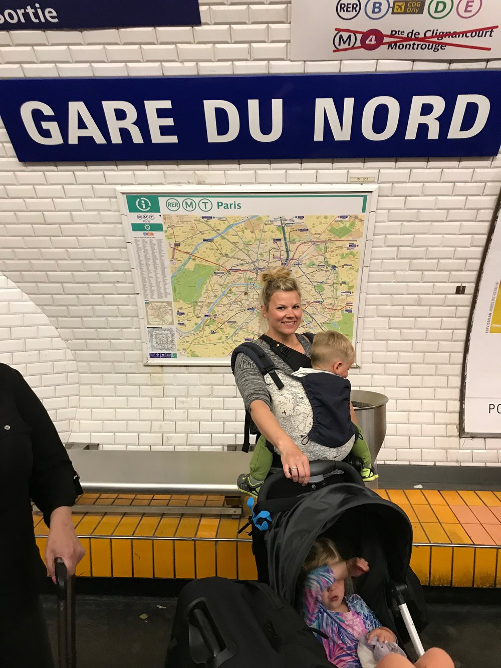 Directly after this photo - we were pick pocketed. Gare Du Nord is one of the most trafficked metro stops in Paris.