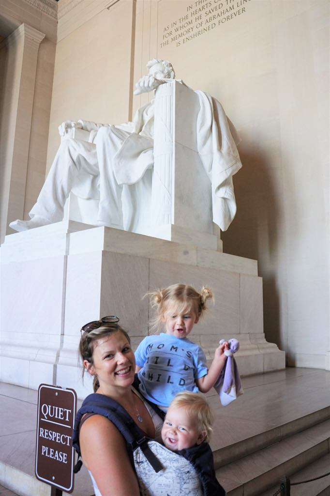 The Kids and me at the Abraham Lincoln Memorial in 2017
