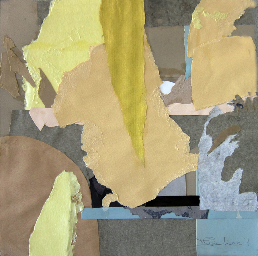 YELLOW INTRUSION-collage- 20 x 20 - 2011