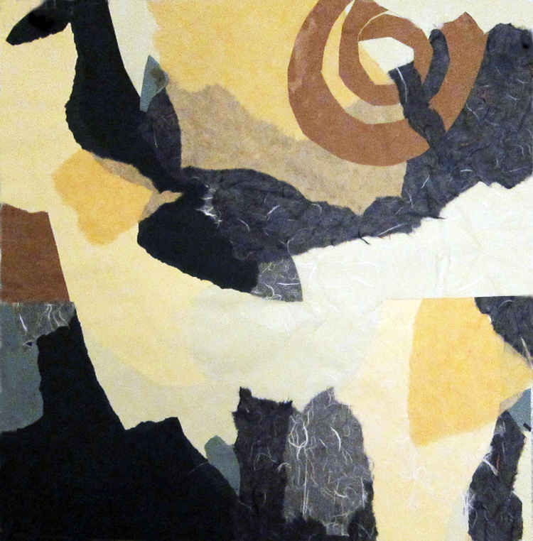 CANYON EVENING- collage- 20 x25- 2011